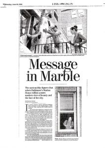 The Baltimore Sun: Message in Marble